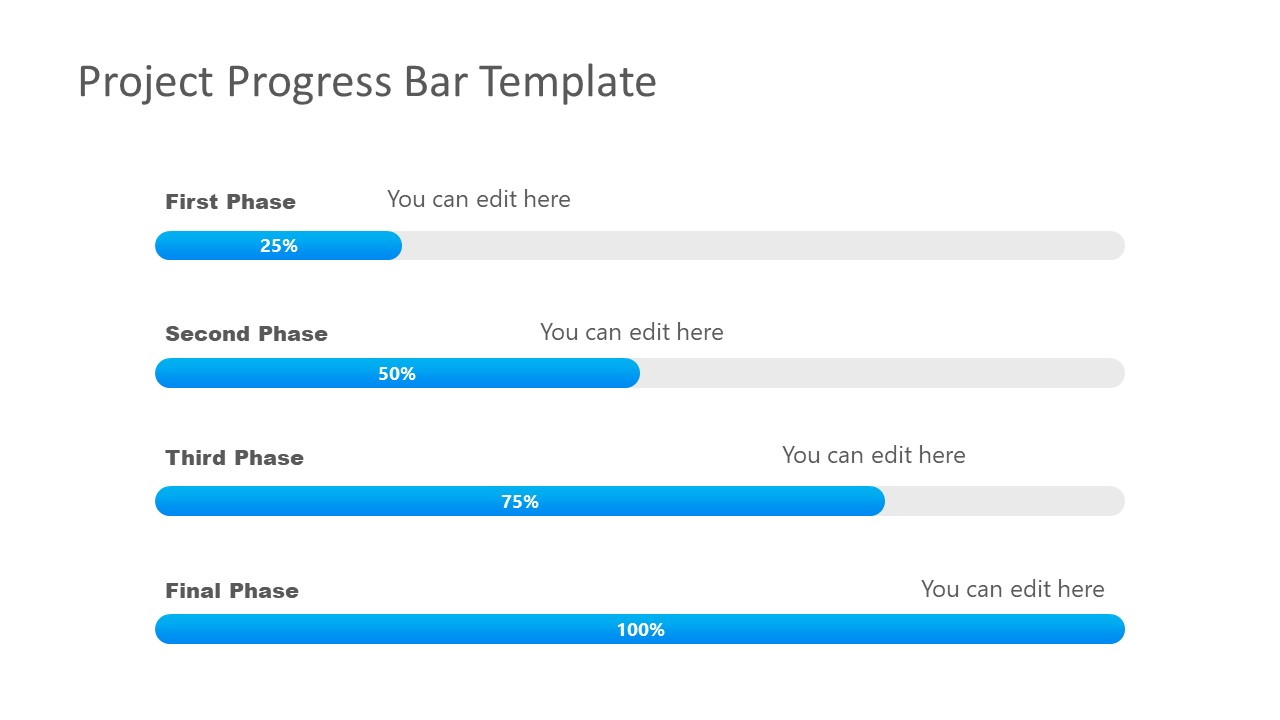 Presentation of 4 Steps Progress Bar