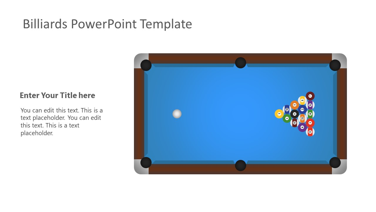 Pool Billiards PowerPoint Template