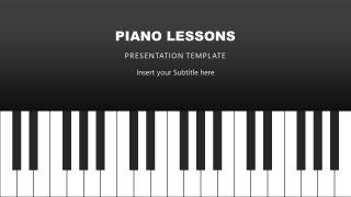 Cover Slide of Piano Keys PPT