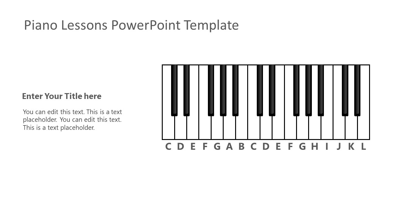 Keyboard Template for Piano Lessons