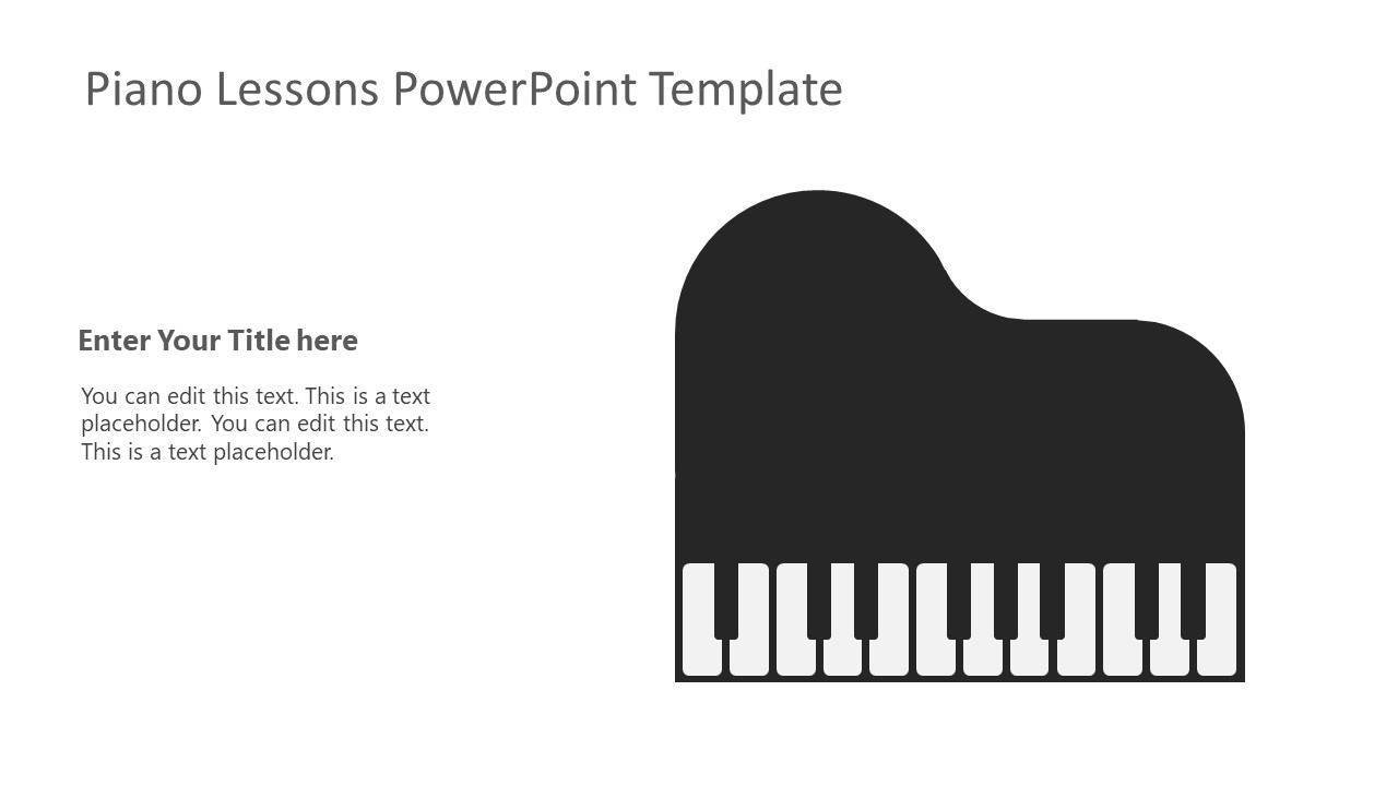 Flat Shapes of Piano Musical Instrument