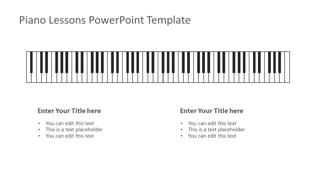 PowerPoint Layout of Musical Instrument Keyboard