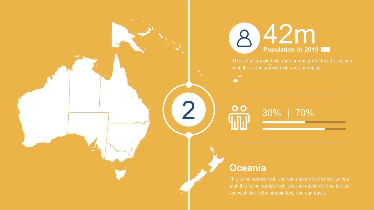Oceania Map Templates for Australia