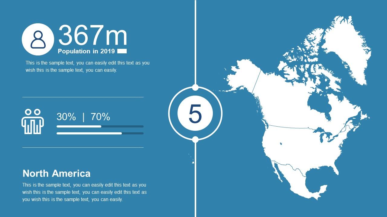 North America Map PowerPoint Presentation