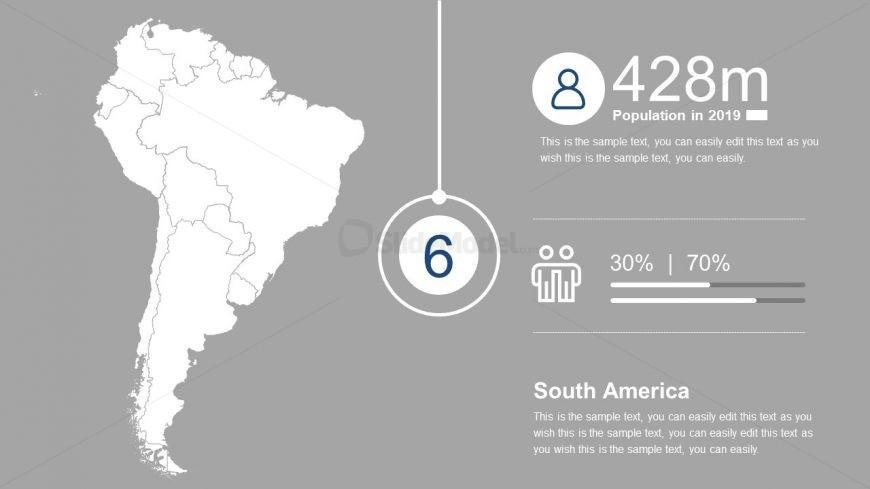South America Editable Map Template
