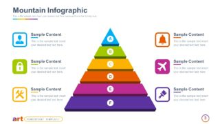 6 Steps Pyramid Diagram