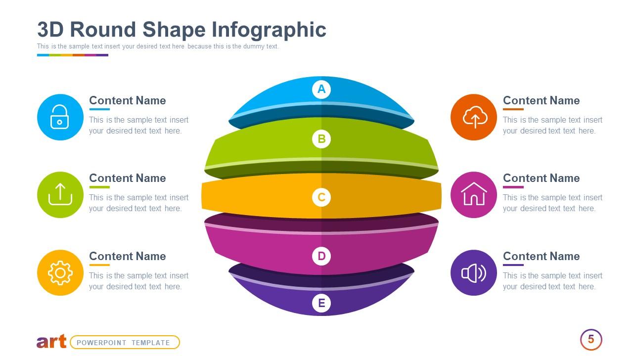 3D Circular Diagram Template