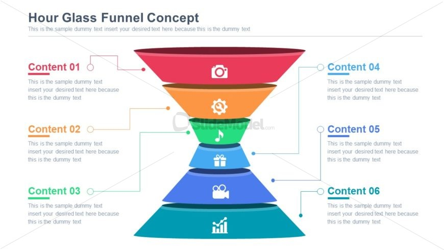 Funnel Hourglass Diagram Template