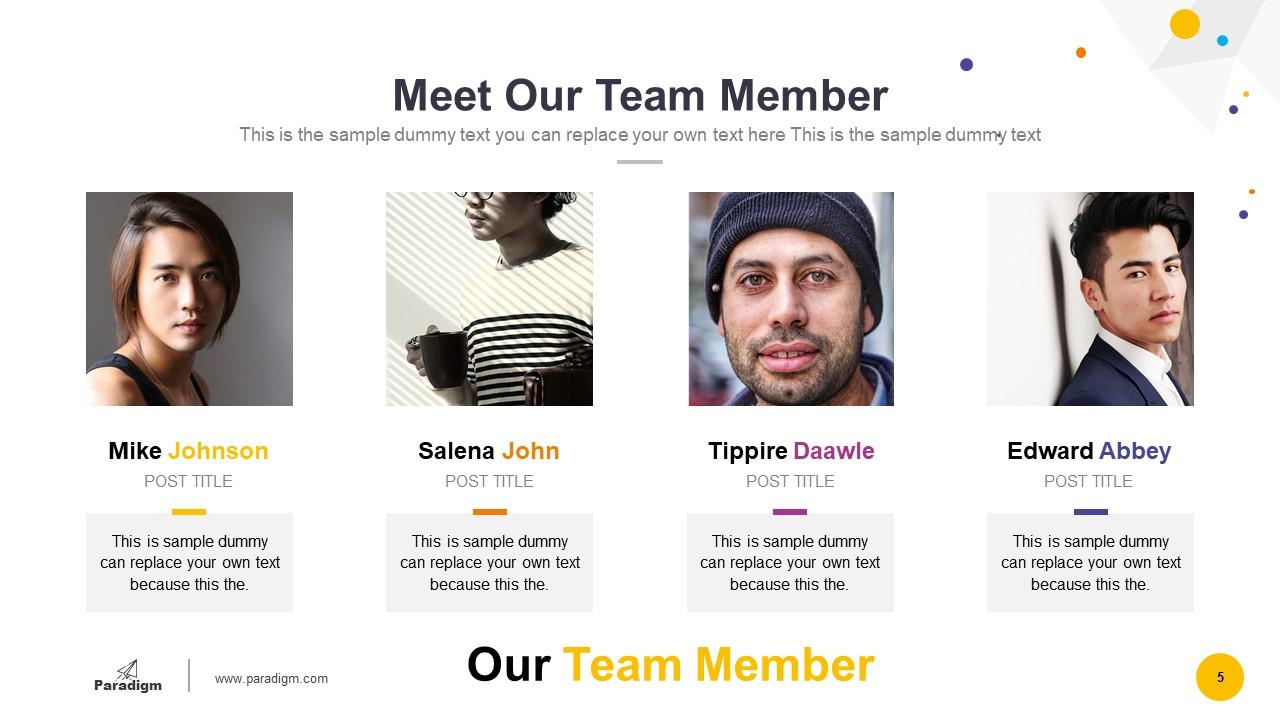 Team Members Introduction Slide