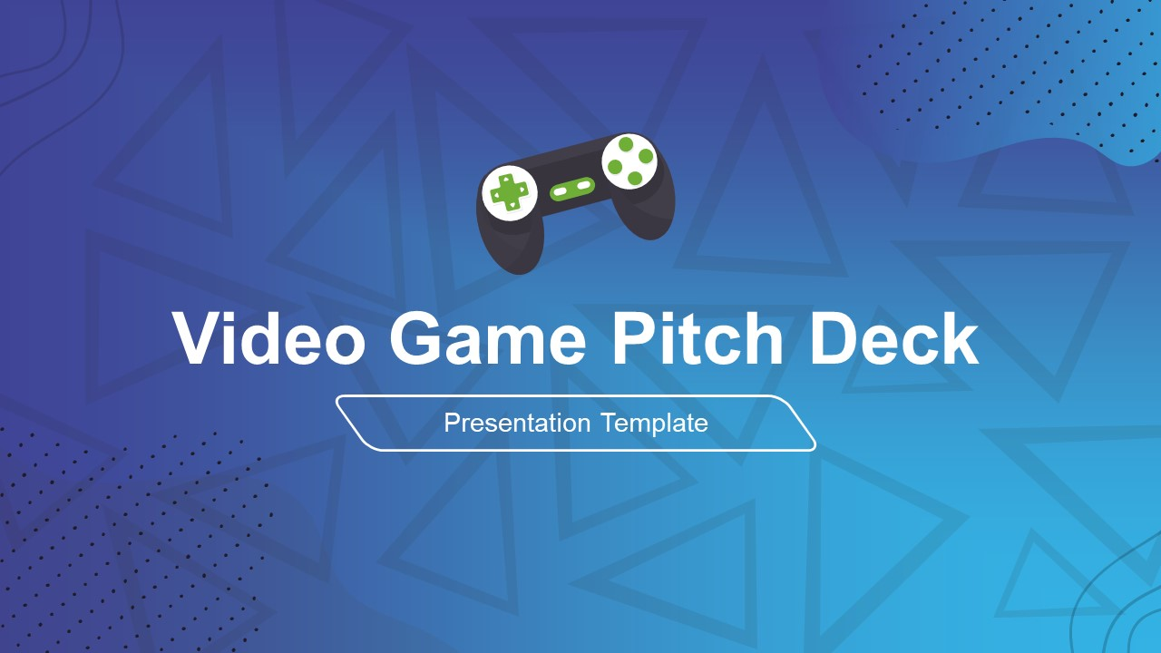Presentation of Video Game Pitch Deck