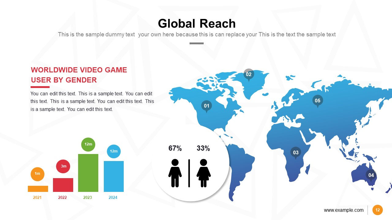 Video Games PowerPoint Map