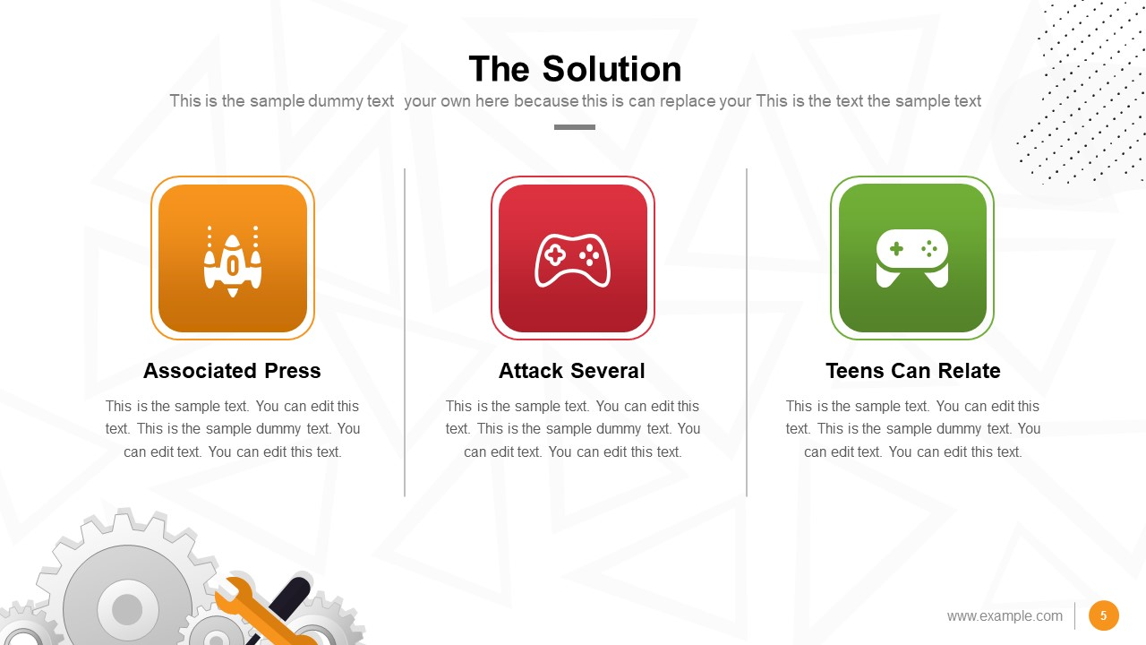 Presentation of Solution Gaming Slide