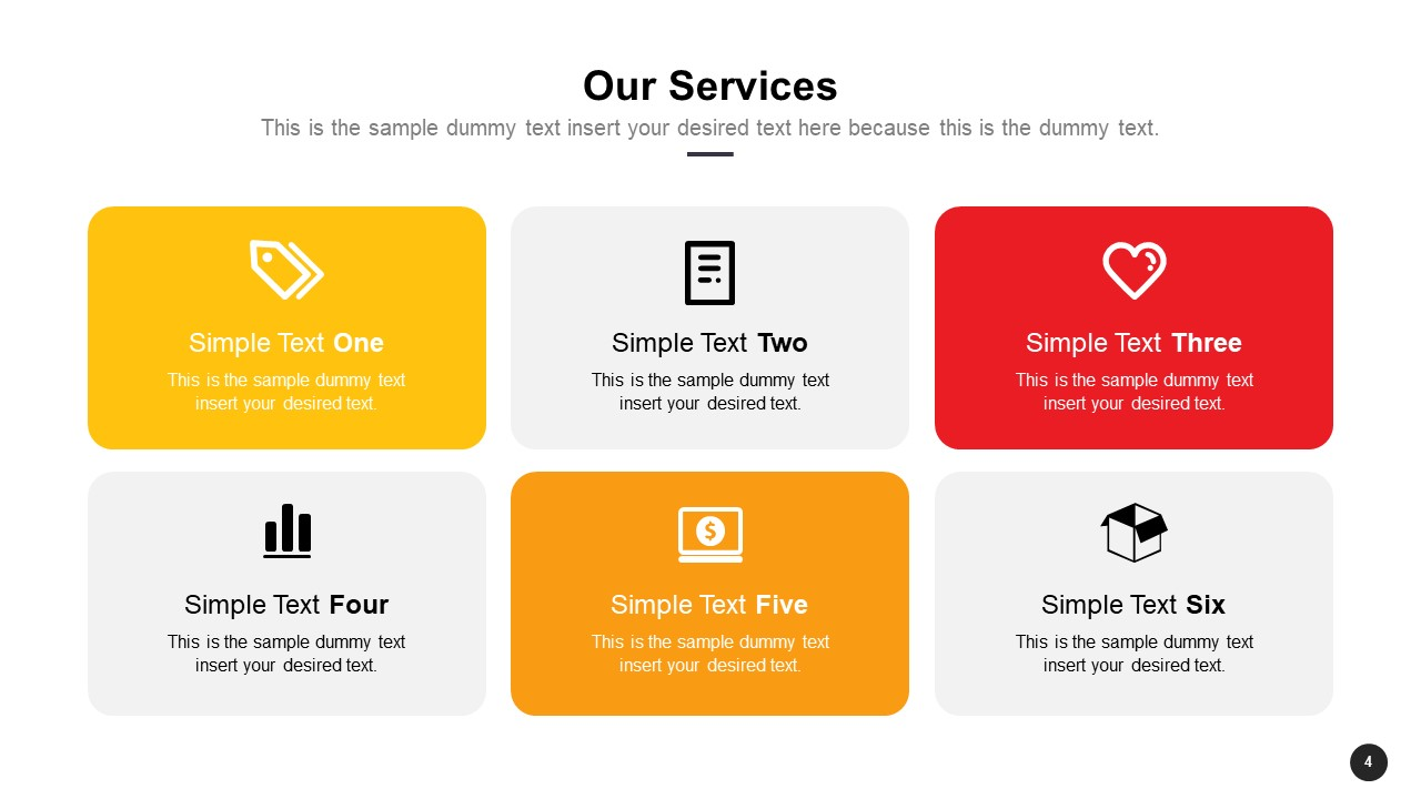 PowerPoint Company Services Segments