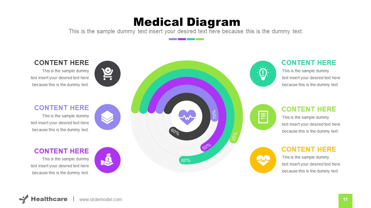 Editable Progress Circular Diagram
