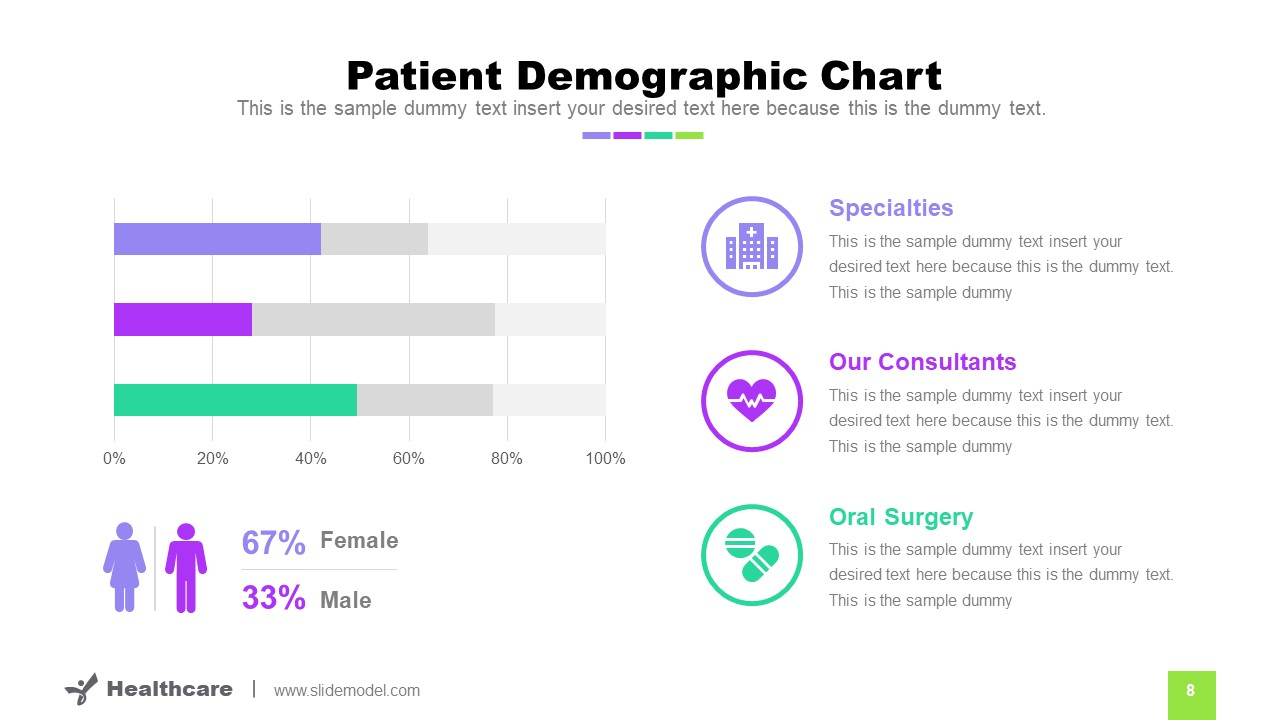 Data Driven Graphic Charts Demographics