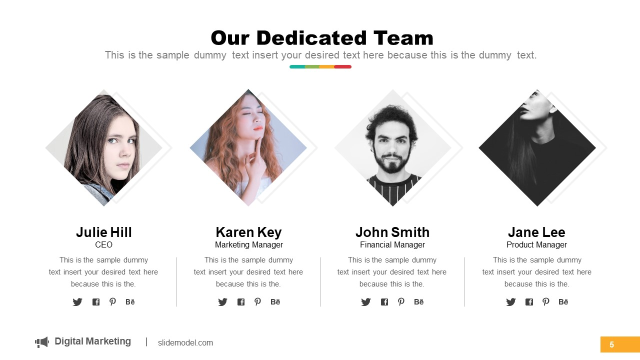 Staff Profile Presentation Layout