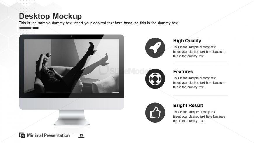 Minimal Layout of Desktop Mockup