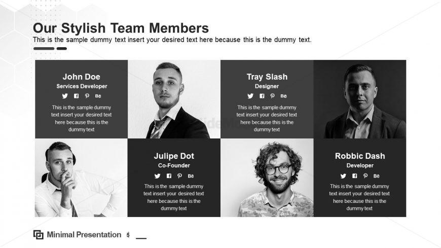 Team List PowerPoint Profile