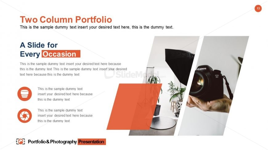 Portfolio & Photography Template for Content