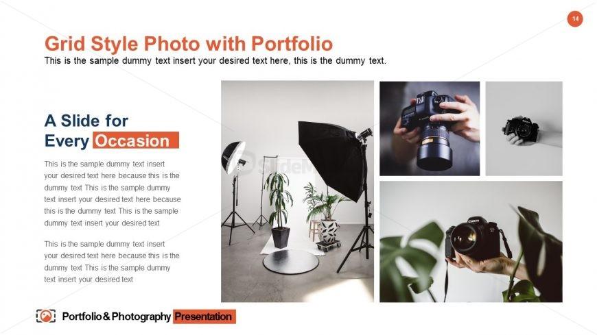 Portfolio & Photography Slide Grid