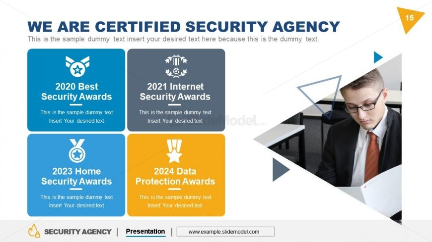 Certificate of Security Agency Template