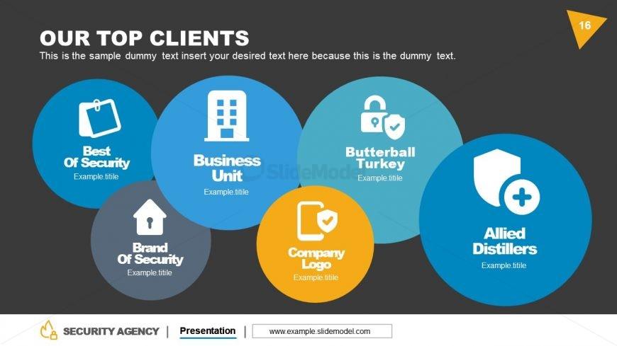 Bubbles Style Slide of Client's List