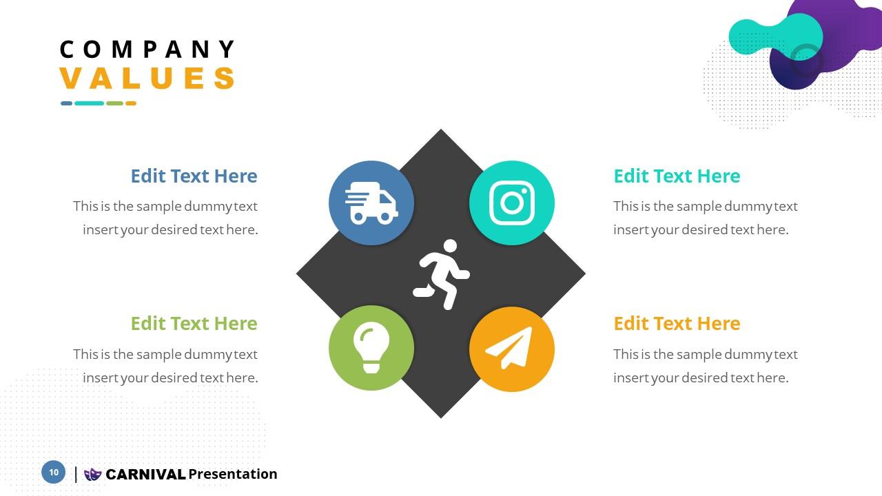 Slide of Infographics for Values