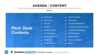 Presentation Agenda Template for Business