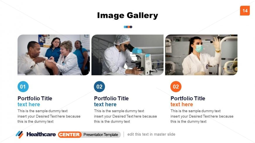 Healthcare Image Gallery PowerPoint