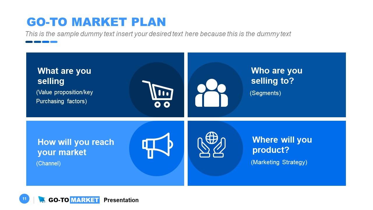 PPT Diagram Go-To Market Plan