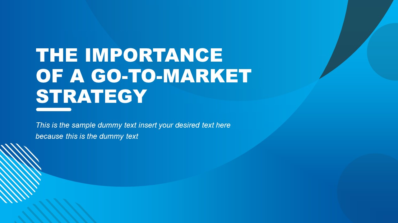 Cover Slide PowerPoint for Go-To Market