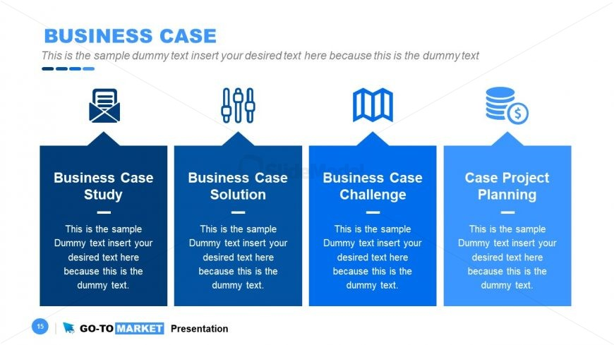 PowerPoint Diagram of Business Case Analysis