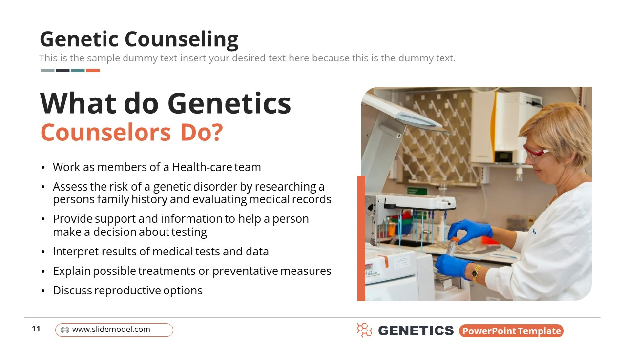 Template of Genetic Counseling Information