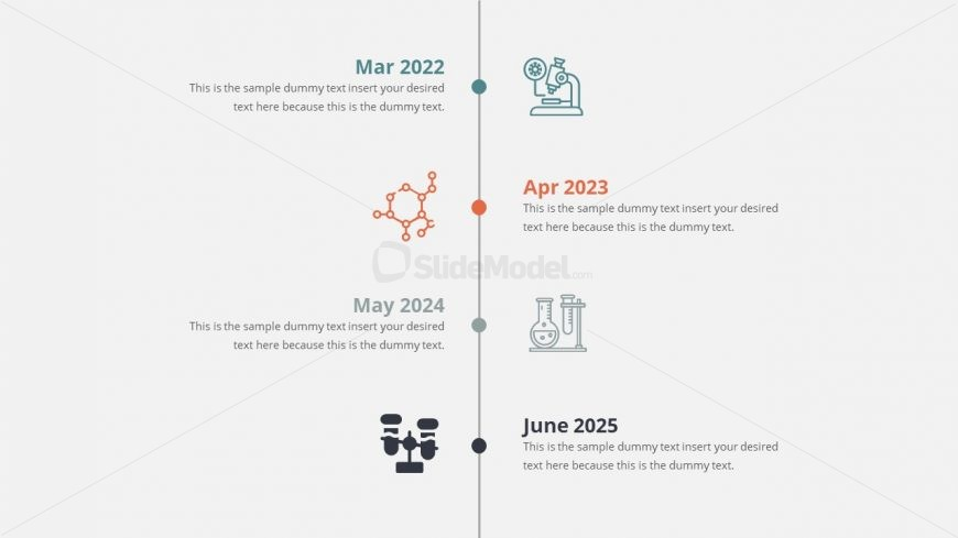 Animated Timeline Template of Company