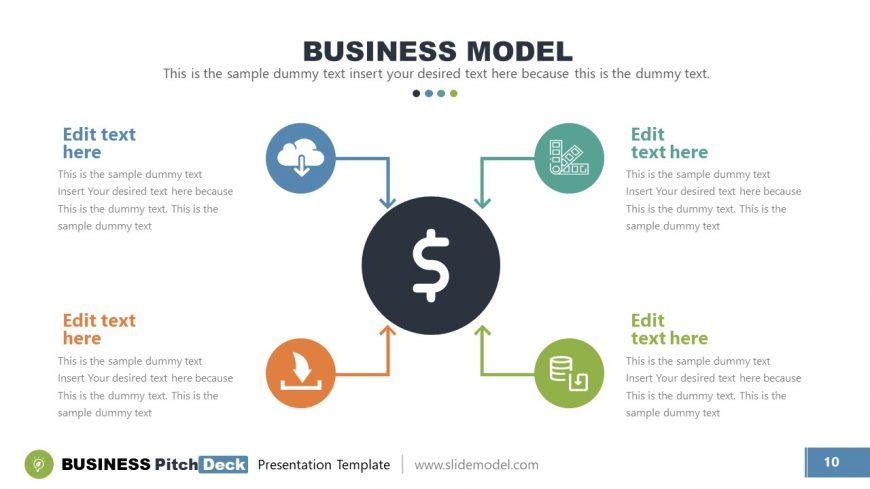 4 Steps Circular Diagram Template