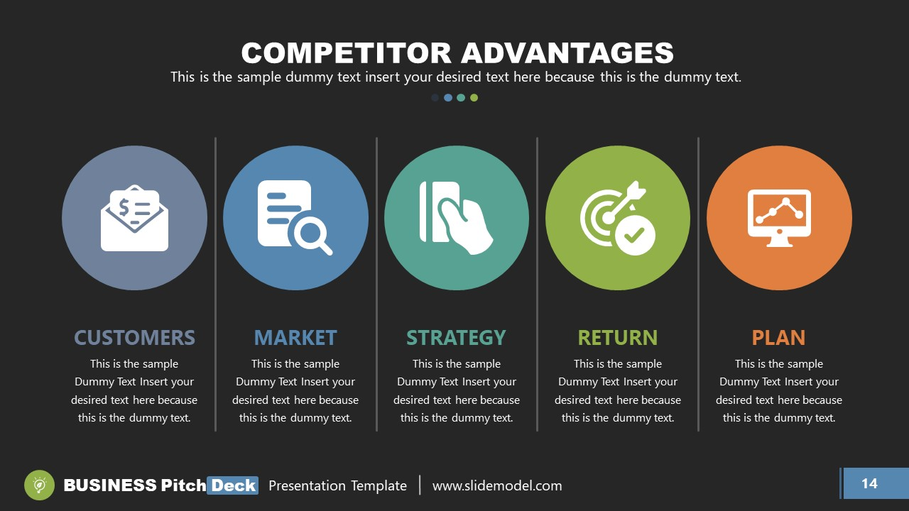 Sections fo Competitive Advantages for Company