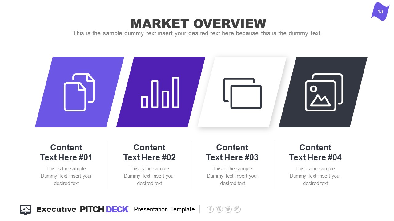 Infographic Executive Pitch Deck Market Overview