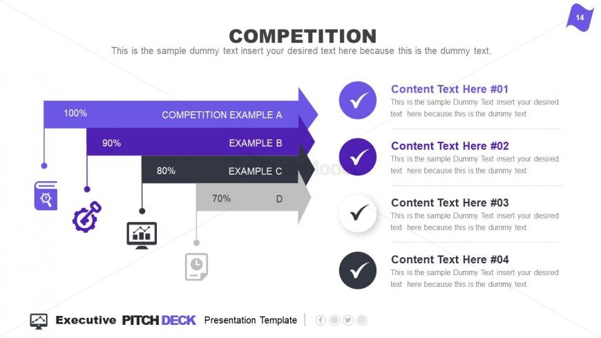 Market Competition Infographic Content Slide