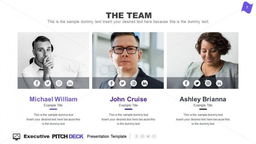 Presentation of Business Team Executive Summary