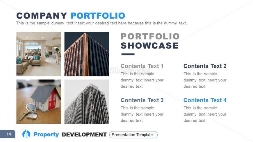 4 Sections of Property Development Portfolio