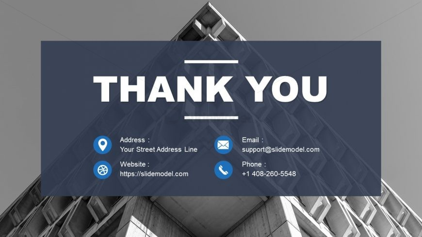 PowerPoint Thank You Note for Property Development