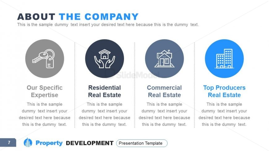 4 Segments Property Clipart Icons