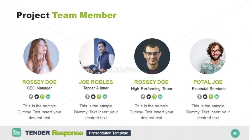 4 Segments Team Introduction Slide