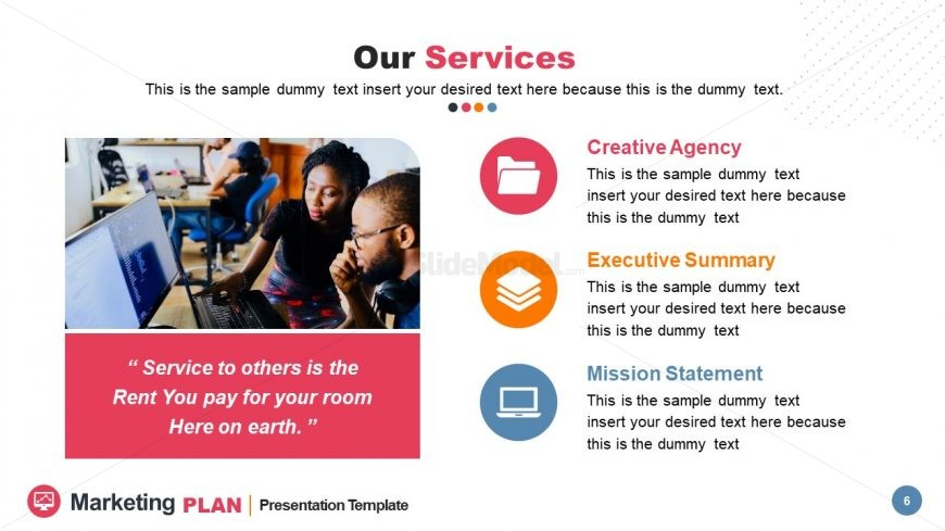Three Segments for Company Services