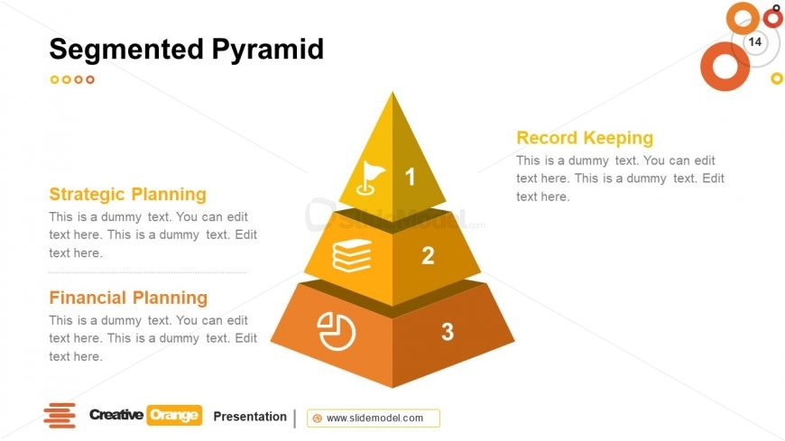 3D Style Pyramid Diagram Template
