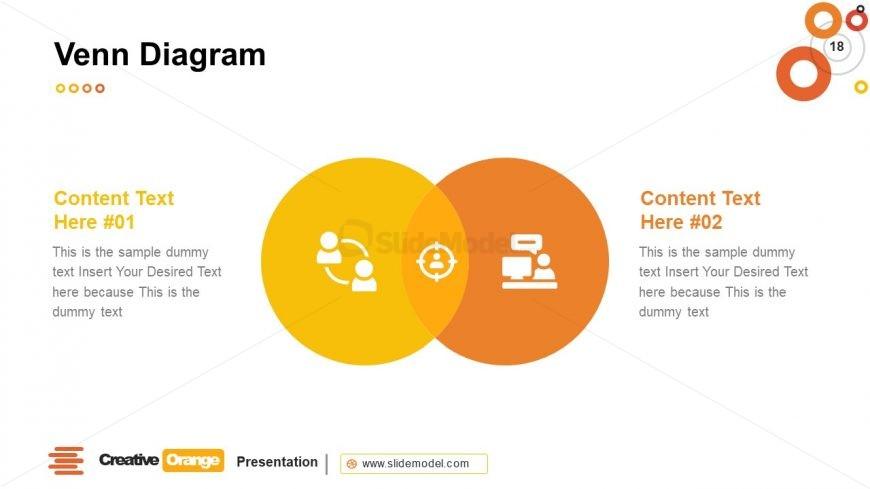Infographics of Venn Diagram Template