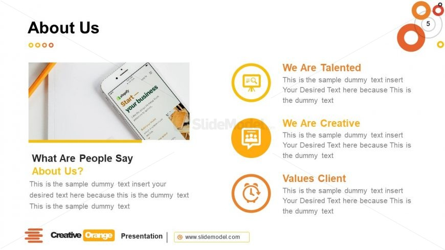 Templates of About Us Introduction Concept