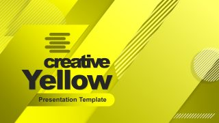 Presentation of Yellow Cover Template