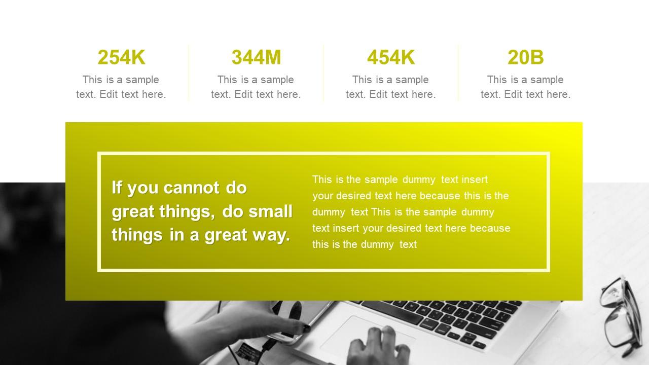 PowerPoint Success Slide Yellow Theme