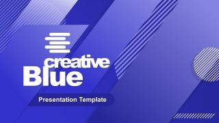 Cover of Business PowerPoint Blue Theme